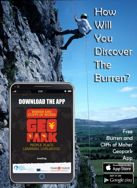 Burren Geopark App advert