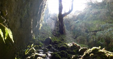 Poll na Gollum Cave in the Burren which is suggested as having influenced the creation of one of JRR Tolkien's most famous characters (Gollum)