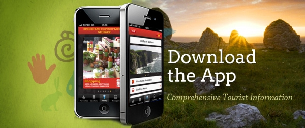 Examples of the Burren Geopark app on iphone for downloading