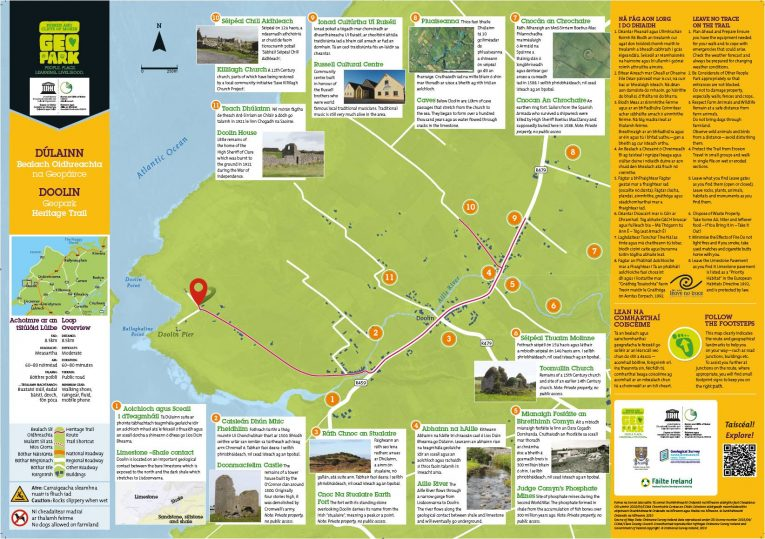 Heritage Walking Trails Burren And Cliffs Of Moher Geopark Ireland