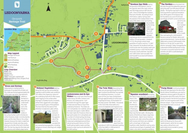 Lisdoonvarna Heritage Trail map