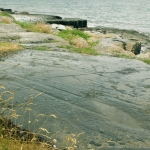 Fig.1 Glacial striations at the Flaggy Shore