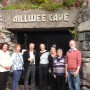 Zena and Eamon with the Geopark re-validators at Aillwee