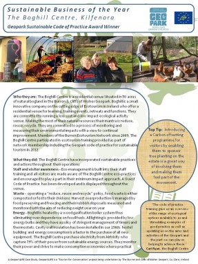 Sustainable Business The Boghill Centre