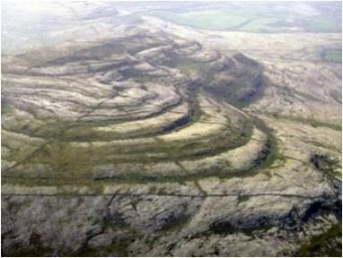 Folded rocks on Mullaghmore