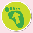 Footprint sign