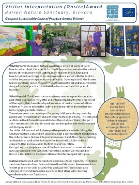 Onsite Interpretation Burren Nature Sanctuary