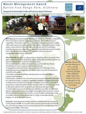 Waste Management Burren Free Range Pork