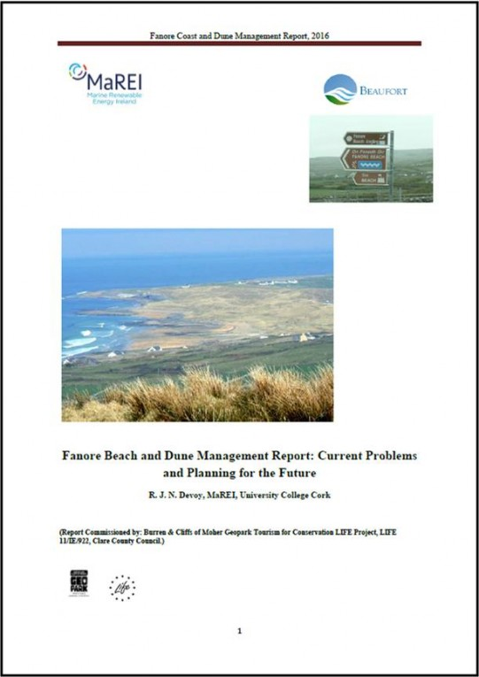 Fanore Beach Management report