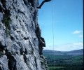 Abseiling in the Burren